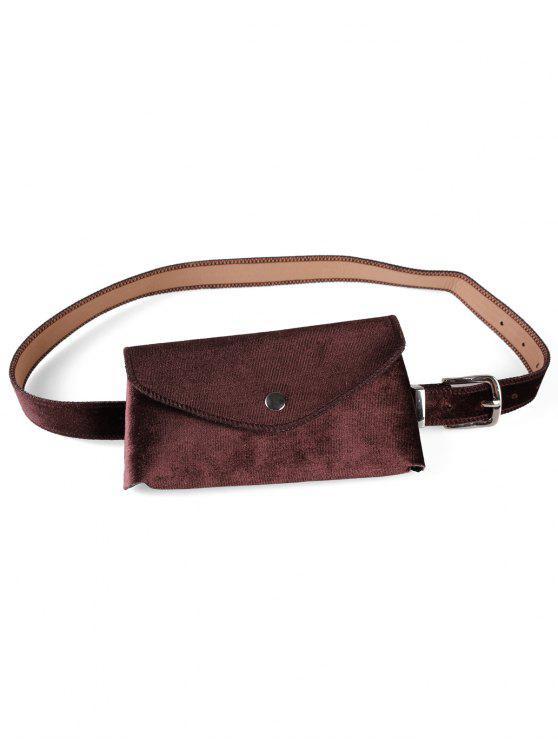 unique Solid Color Fanny Pack Belt Bag - COFFEE