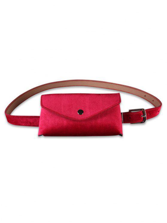 affordable Solid Color Fanny Pack Belt Bag - RED