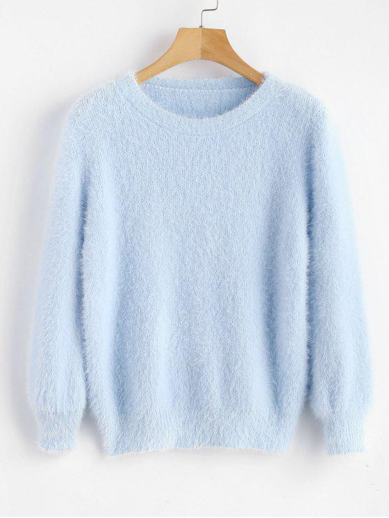 women's Cosy Fluffy Sweater - DAY SKY BLUE ONE SIZE