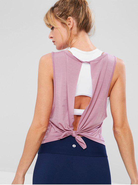 ZAFUL Running Split Rücken Tank Top - Rosa L