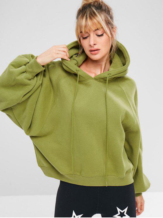 fancy Sports Pullover Raglan Sleeve Hoodie - AVOCADO GREEN M