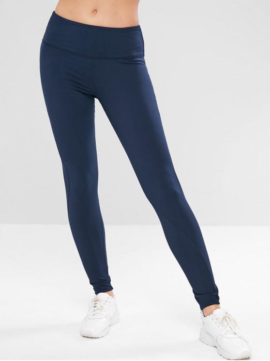 online ZAFUL Stitching Sports Leggings - CADETBLUE L