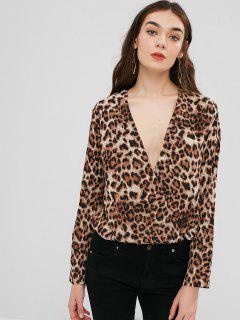 Bluse Mit Leopardenmuster - Kafee M