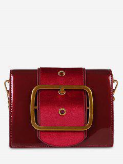 PU Leather Bucket Crossbody Bag - Red Dirt