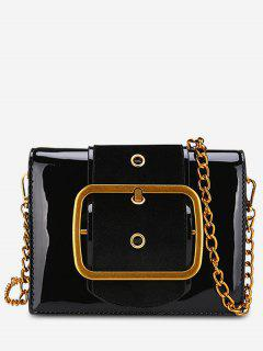 PU Leather Bucket Crossbody Bag - Black