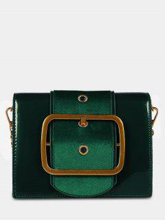 PU Leather Bucket Crossbody Bag - Sea Green