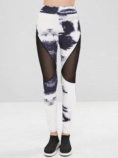 Mesh-Print-Leggings - Multi Xl