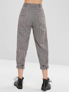 Pantalones Rectos De Pata De Gallo - Multicolor Xl