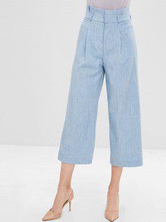 Hook High Waisted Wide Leg Pants - Jeans Blue M