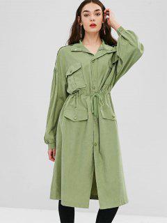 Falda Larga Con Botones A Presión - Guisantes Verdes M