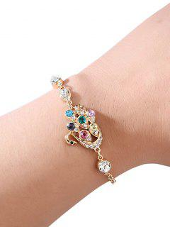 Swan Faux Crystal Chain Bracelet - Gold