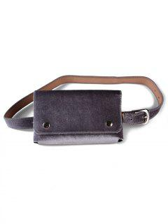 Fanny Pack Hip Bum Belt Bag - Gray