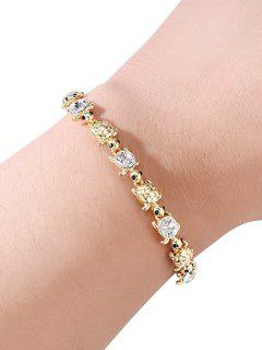 Turtle Shape Layered Chain Bracelet - Gold