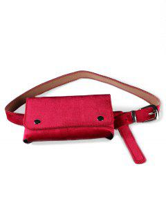 Fanny Pack Hip Bum Belt Bag - Rose Red