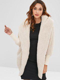 Oversized Fluffy Teddy Winter Coat - Beige