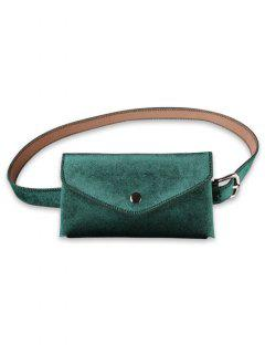 Solid Color Fanny Pack Belt Bag - Sea Turtle Green