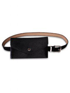 Solid Color Fanny Pack Belt Bag - Black