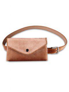 Solid Color Fanny Pack Belt Bag - Tiger Orange