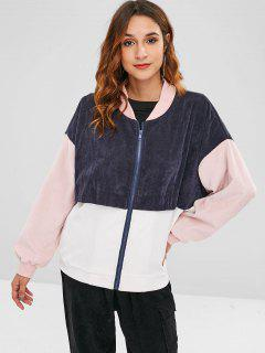 ZAFUL Patchwork Corduroy Jacket - Multi-a S