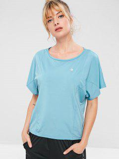 ZAFUL Batwing Sleeve T-shirt - Baby Blue S