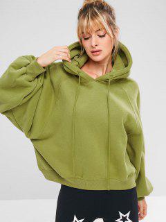 Sports Pullover Raglan Sleeve Hoodie - Avocado Green S