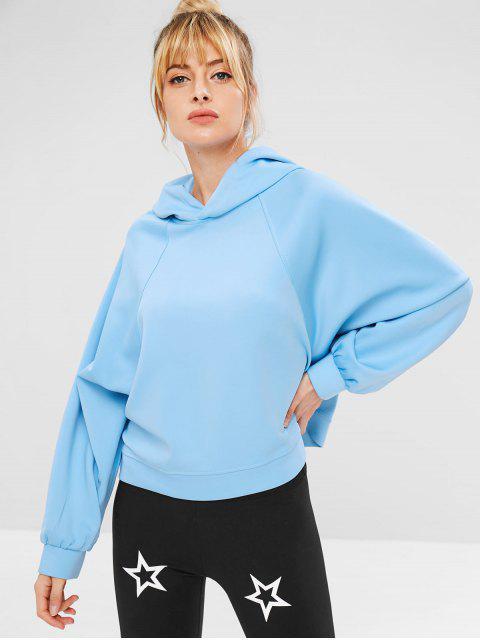 women's Raglan Sleeve Loose Hoodie - DEEP SKY BLUE S Mobile