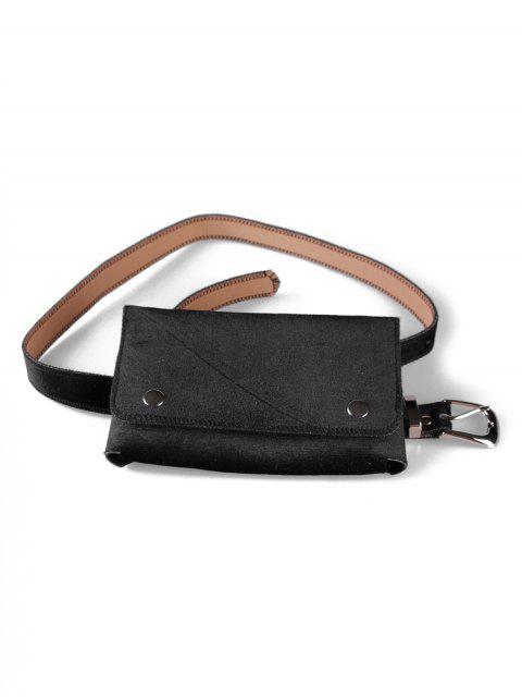 unique Fanny Pack Hip Bum Belt Bag - BLACK  Mobile