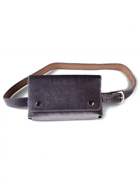 womens Fanny Pack Hip Bum Belt Bag - GRAY  Mobile