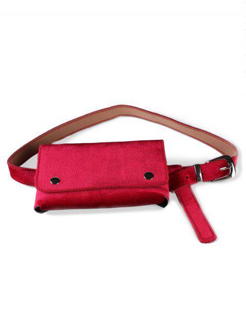 best Fanny Pack Hip Bum Belt Bag - ROSE RED  Mobile