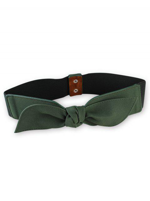 new Bowknot Elastic Wide Waist Belt - GRAYISH TURQUOISE  Mobile