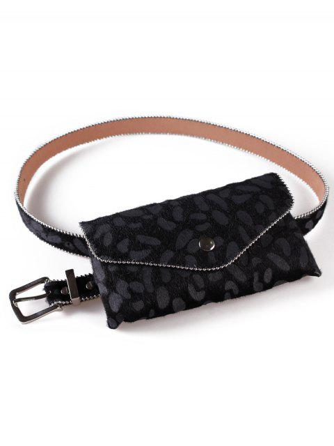 outfits Leopard Printed Fanny Pack Belt Bag - BLACK  Mobile