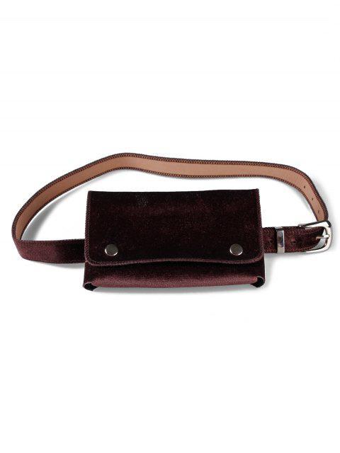 trendy Fanny Pack Hip Bum Belt Bag - COFFEE  Mobile