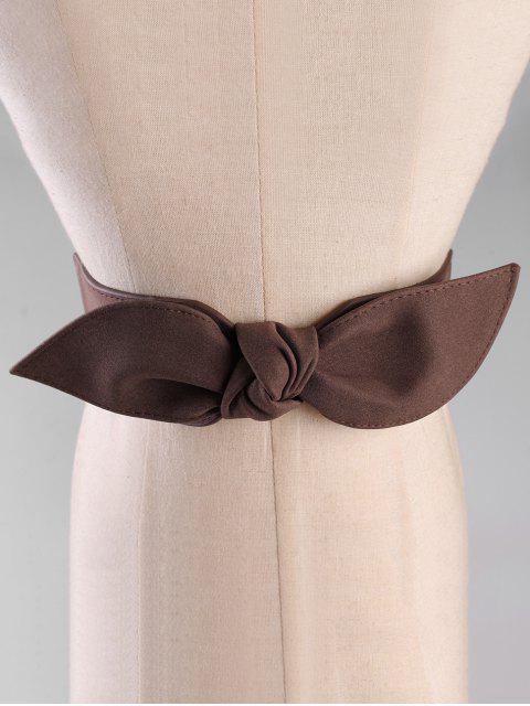 new Bowknot Elastic Wide Waist Belt - COFFEE  Mobile