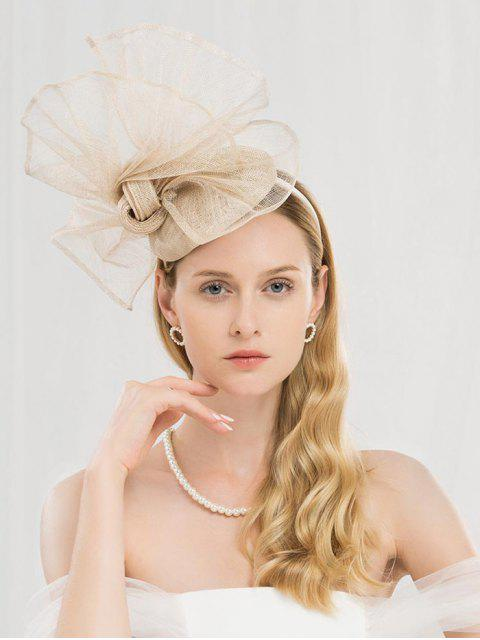 chic Stylish Large Floral Front Beret - CHAMPAGNE  Mobile