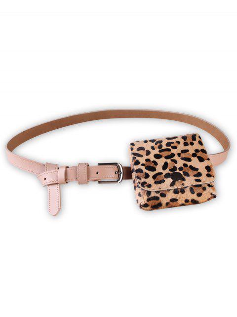 best Leopard Fanny Pack Faux Leather Waist Belt Bag - APRICOT  Mobile