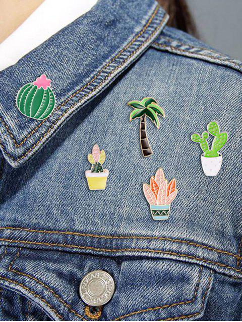 women's 8pcs Tree Plant Design Brooches - MULTI-A  Mobile