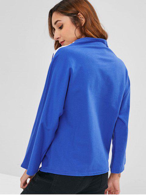 Haut Panneau Rayé à Lacets - Bleu Dodger Taille Unique Mobile