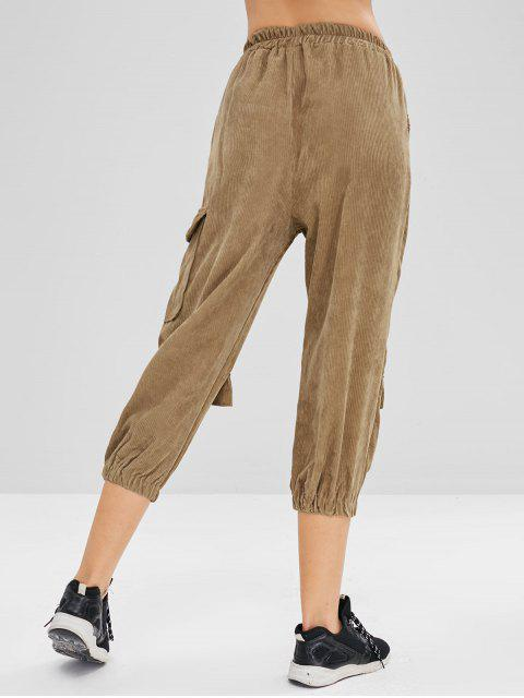 new Cargo Corduroy Joggers Pants - CAMEL BROWN ONE SIZE Mobile