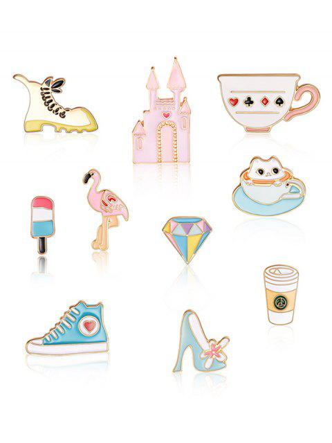 buy Castle Ice Cream Design Brooch Set - MULTI-A  Mobile