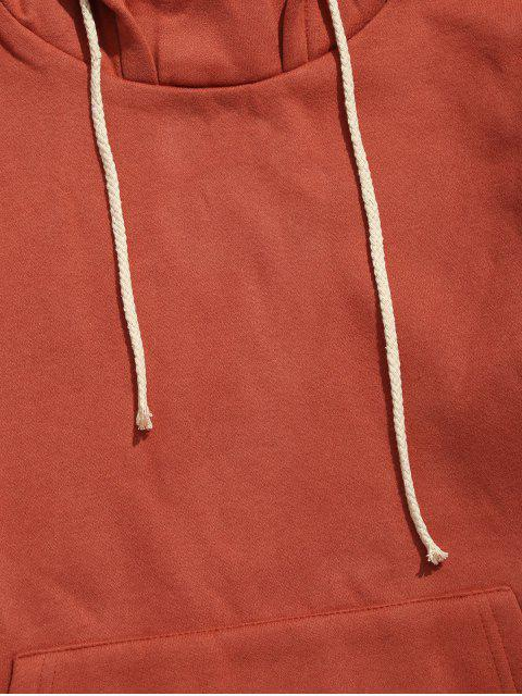 womens Dropped Shoulder Striped Pullover Hoodie - CHERRY RED L Mobile