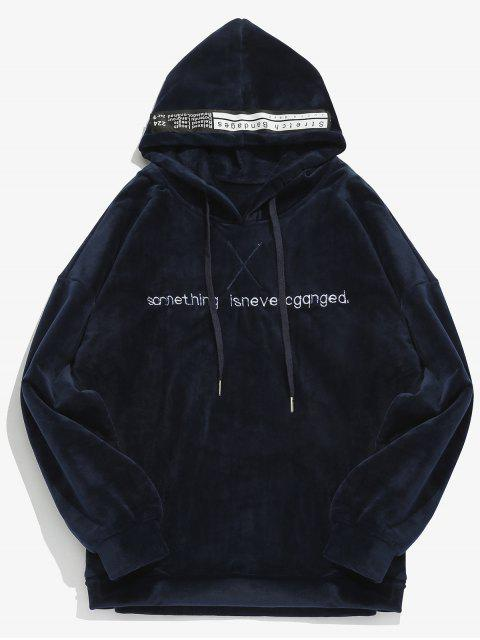 Pullover Brief gedruckt samt Hoodie - Mitternacht Blau 2XL Mobile