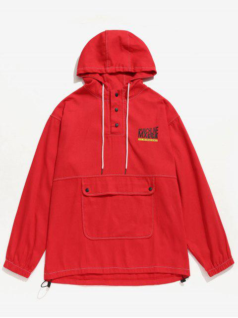 Brief gedruckt Känguru Tasche Hoodie - Rot XL  Mobile