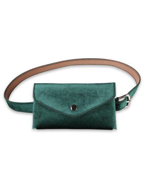 fancy Solid Color Fanny Pack Belt Bag - SEA TURTLE GREEN  Mobile