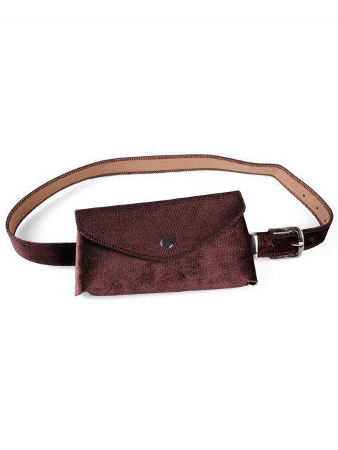 unique Solid Color Fanny Pack Belt Bag - COFFEE  Mobile