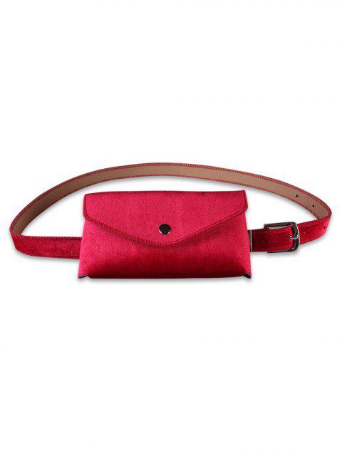 affordable Solid Color Fanny Pack Belt Bag - RED  Mobile