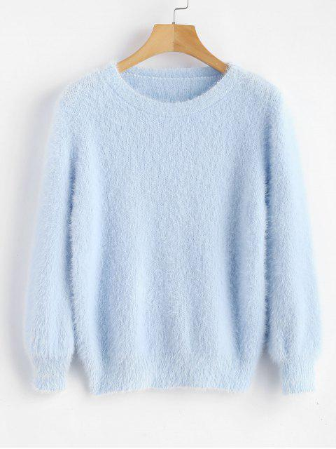 women's Cosy Fluffy Sweater - DAY SKY BLUE ONE SIZE Mobile