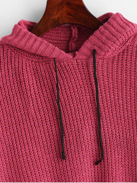 outfit Baggy Hooded Oversized Sweater - ROSE RED ONE SIZE Mobile
