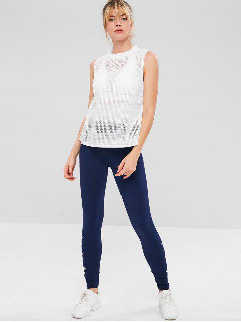 ZAFUL Sports Airy durchbrochenes Tank Top - Weiß M Mobile