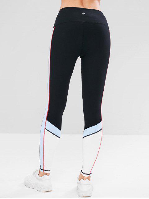 ZAFUL Color Block Inner Pocket Leggings deportivos - Negro M Mobile
