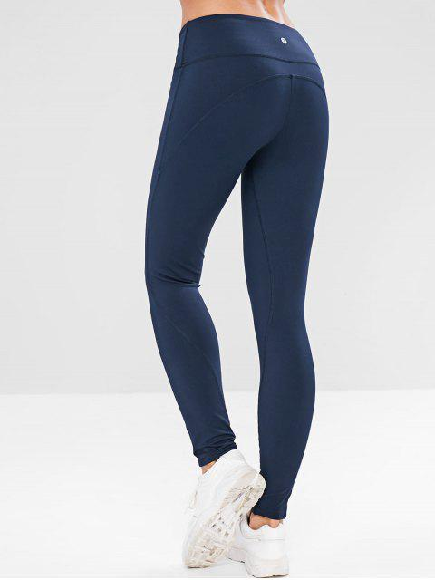 Leggings deportivos de costura ZAFUL - Cadetblue S Mobile